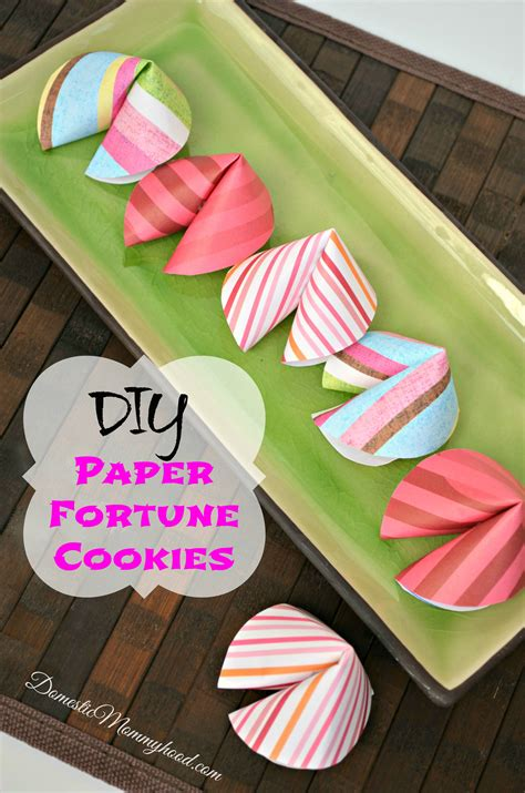 How To Make Fortune Cookies Out Of Paper - make your own fortune cookie out of paper domestic mommyhood