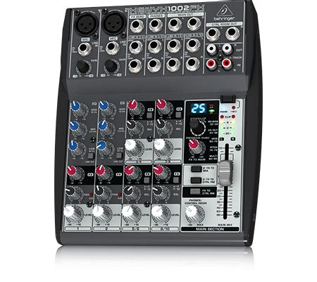 behringer xenyx 1002fx analog mixer 10 input 6 channel