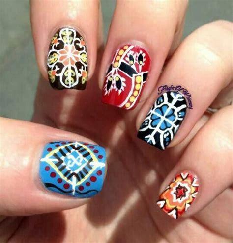 moroccan pattern nails moroccan inspired nail art nail art i love pinterest