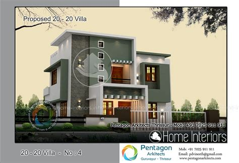 4 bhk villa in 1850 sq ft kerala home design and floor plans 1529 square 4 bhk contemporary 20 20 home villa 4 design