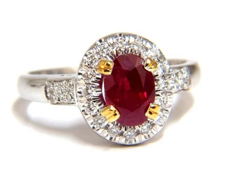Ruby 9 95ct certified 1 95ct ruby ring 18kt