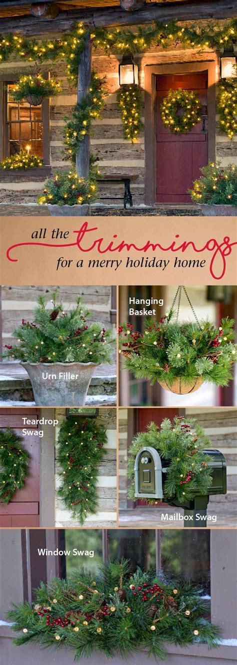 hanging outdoor christmas 25 best swag ideas on pinterest