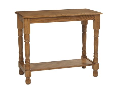 Traditional Collection Amish Oak Warehouse Traditional Sofa Tables