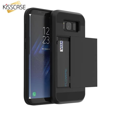 Samsung S8 Armor Casing Softcase Slide Finger Holder kisscase for samsung s8 plus armor galaxy s8 s7 s6 edge card slot phone cases for samsung