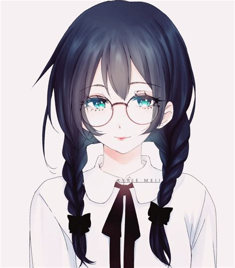 anime glasses anime girl with glasses anime girl pinterest anime