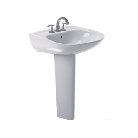 Pedestal Faucet by Toto Prominence 26 In Pedestal Combo Bathroom Sink With 4