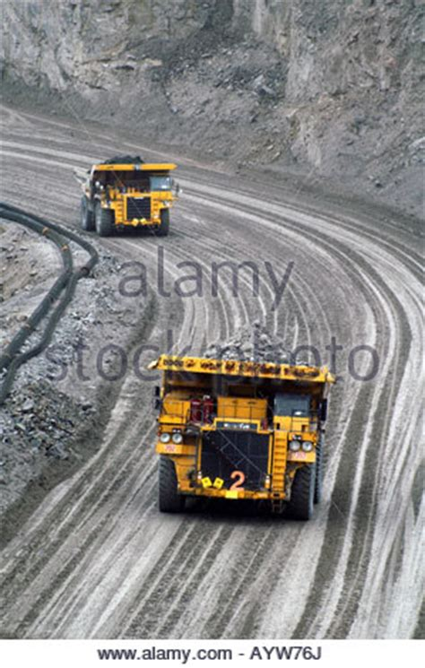 northwest territory pit diavik mine open pit trucks northwest territories