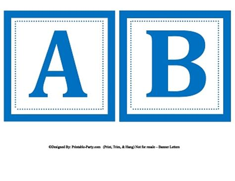 printable alphabet letters in blue small square printable alphabet letters printable banner