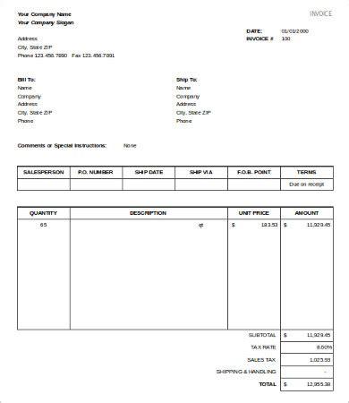 sle invoice xlsx excel sales template 8 free excel documents download