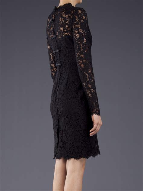 valentino lace dress  black lyst