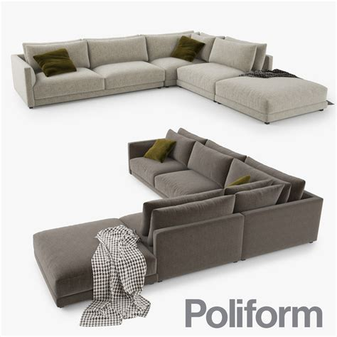 poliform couch 3d 3ds poliform bristol sofa