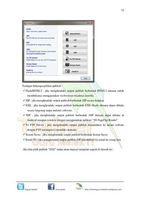 modul membuat website dengan wordpress modul membuat bahan ajar 3 d pageflip by pak sukani
