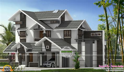 new house roof designs new sloping roof mix house kerala home design bloglovin
