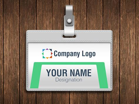 vertical id card template psd file free 2 free company employee identity card design templates