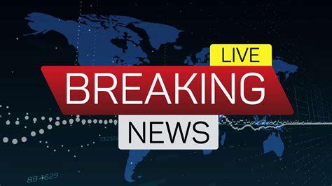 world news breaking news live motion banner on worldmap business