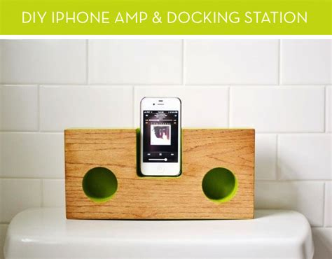 diy docking station how to make a mod iphone amp and docking station out of