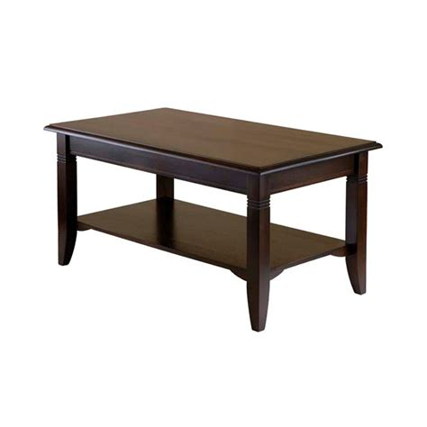 winsome wood nolan coffee table cappucino 40237
