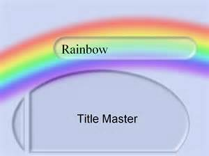 Rainbow Powerpoint Template Free by Powerpoint Templates Ebibleteacher