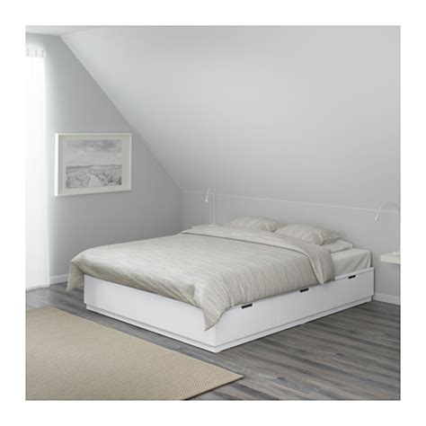 nordli bed frame with storage white 160x200 cm ikea