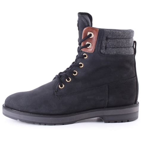hilfiger west 3c1w womens ankle boots in black