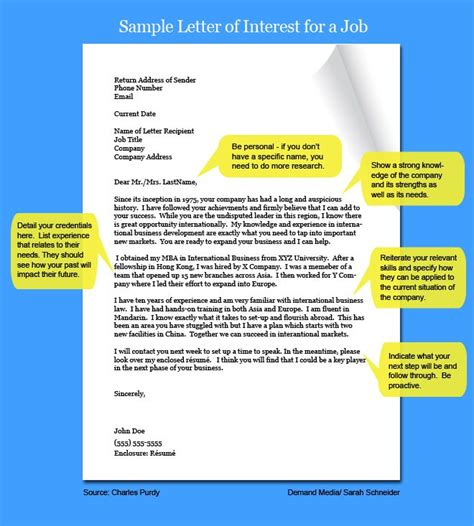 Ehow Cover Letter by How To Write A Letter Of Interest For A 6 Steps Ehow