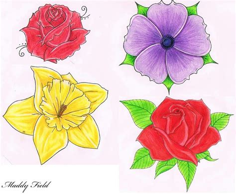 Drawings Of Flowers by Flower Drawings Cliparts Co