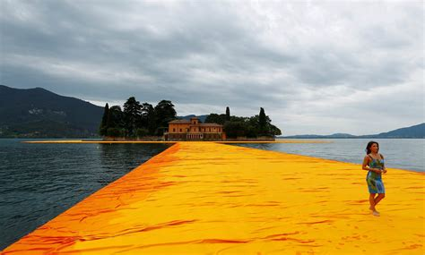 Floating Piers | christo s floating piers artwork lets people walk across