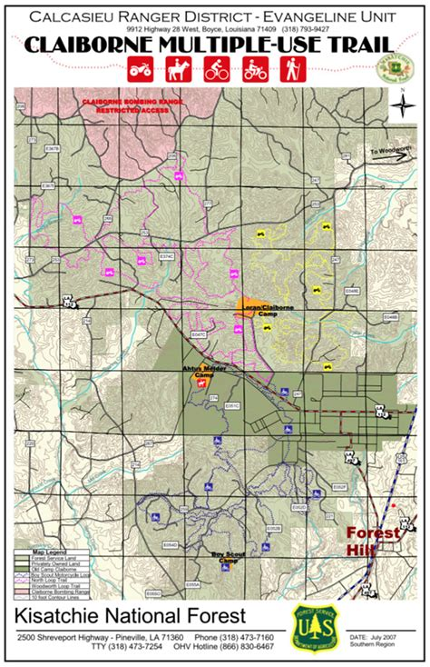 kisatchie louisiana map alexandria and central louisiana ohv and atv trails cs
