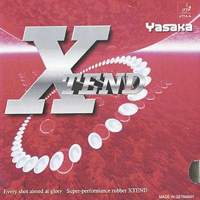 genuine yasaka xtend tend rubber table tennis ping pong
