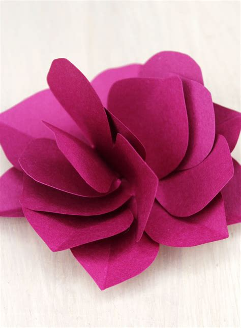 A Paper Flower - be different act normal how to make a paper flower