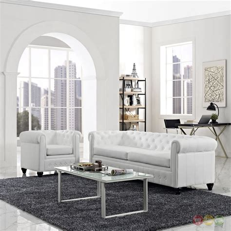 faux leather living room set earl contemporary 2pc faux leather upholstered living room