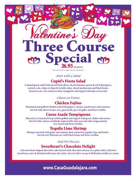 valentines dinner specials s day dinner the casa guadalajara