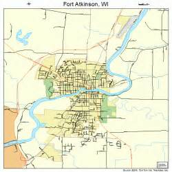 fort map fort atkinson wisconsin map 5526675
