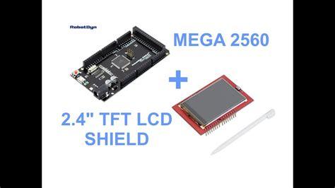 arduino mega   tft lcd shield youtube