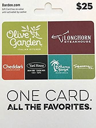 Sell Darden Gift Card - amazon com darden restaurants gift card 25 gift cards