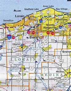 Lorain Ohio Map by Lorain County Map Ohio Ohio Hotels Motels Vacation