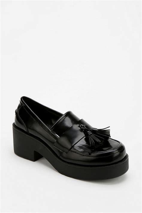 platform loafers black outfitters shellys tassel platform loafer in