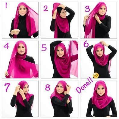 tutorial jilbab harian tutorial jilbab modern simple harian kumpulan contoh