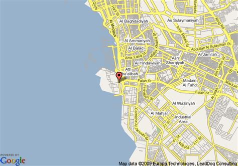 printable jeddah road map map of hilton jeddah jeddah