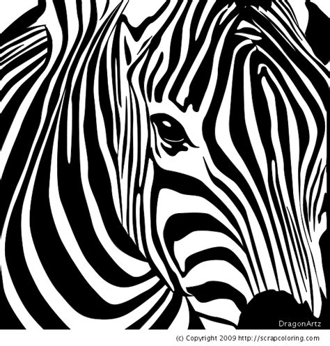 Zebra Head Coloring Page | zebra head coloring page diy art misc pinterest