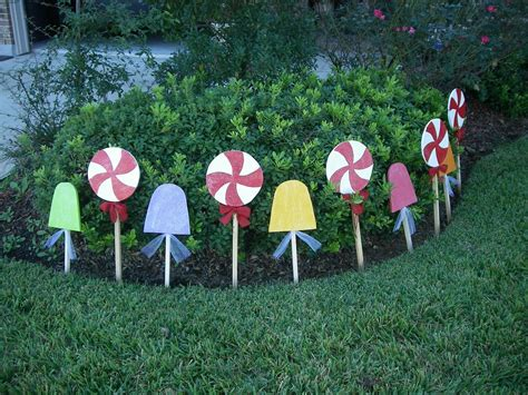 outdoor 8 diameter christmas lollipops peppermint set yard decorations 45 00 via etsy