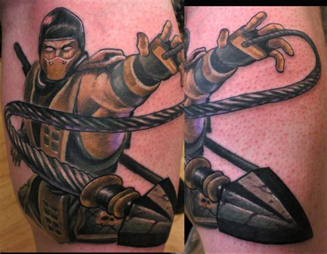 martial arts tattoos martial arts tattoos on scorpion mortal kombat