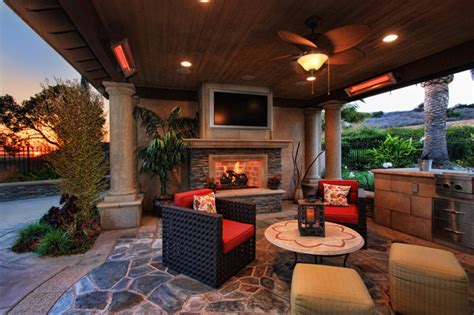 Turtle Rock Project Traditional Patio Orange County Patio Heater Roof