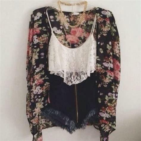 aeo patterned kimono tank top ebony lace ebonylace streetfashion sweater