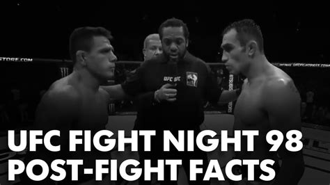 fighting facts ufc fight 98 post fight facts mma