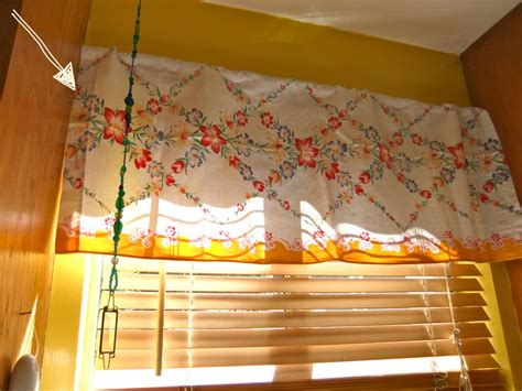 vintage tablecloth curtains cafe curtain from vintage tablecloth kitchen