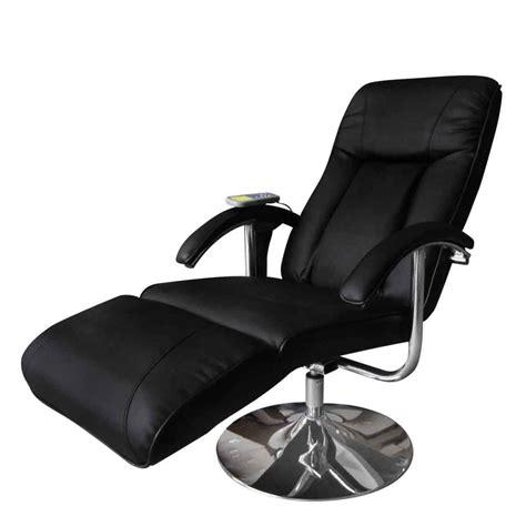 reclining massage chairs black electric tv recliner massage chair vidaxl com