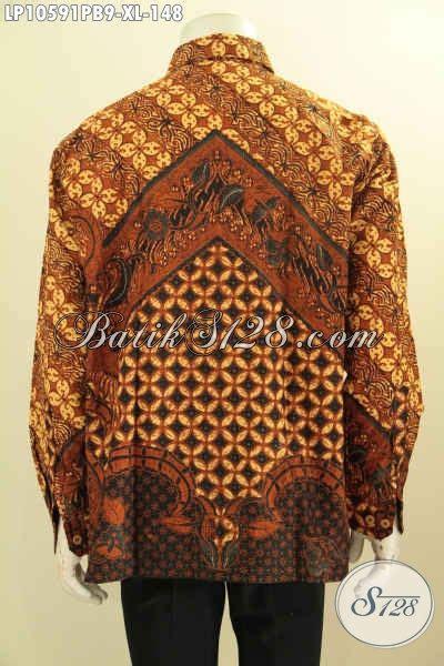 Kemeja Batik Pria Terbaru Lengan Panjang Mewah Elegan jual baju batik motif klasik kemeja batik lengan panjang