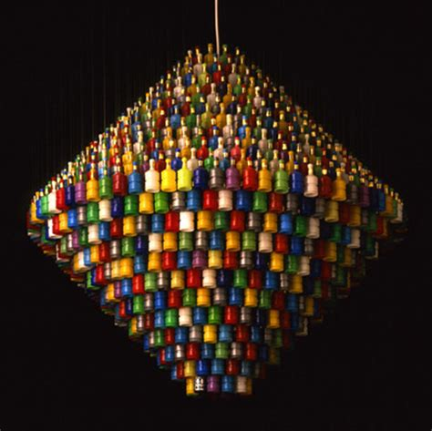 Stuart Haygarth S Recycled Lighting Design Inhabitat Chandeliers Made From Recycled Materials
