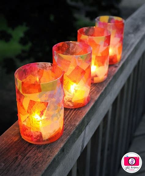 Tissue Paper Lantern Craft - january 2013 munchkins and